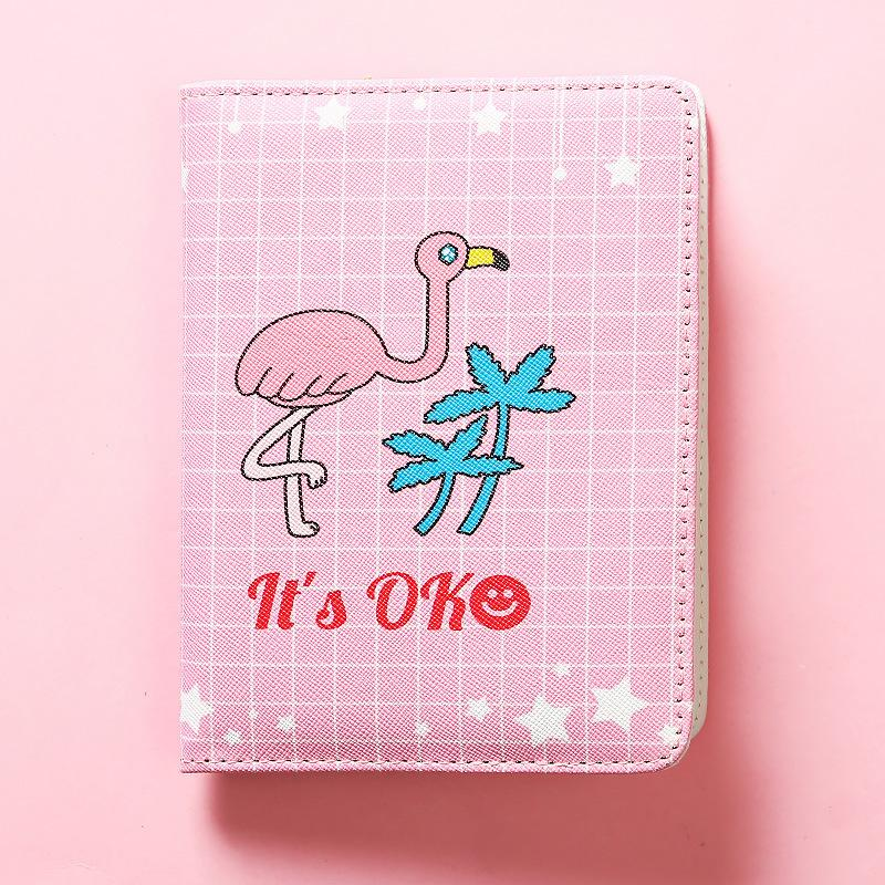 JUGAL Cute PU Leather Pink Flamingo Schedule Book Diary Weekly Monthly Planner Organizer Notebook Kawaii A6 Agenda 2019