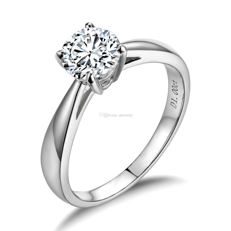 Новый Муассанит Кольцо с Бриллиантом 18 К Золото белое Настоящее чистого золота кольца С Сертификатом обручальные кольца для женщин Ювелирный Завод оптом