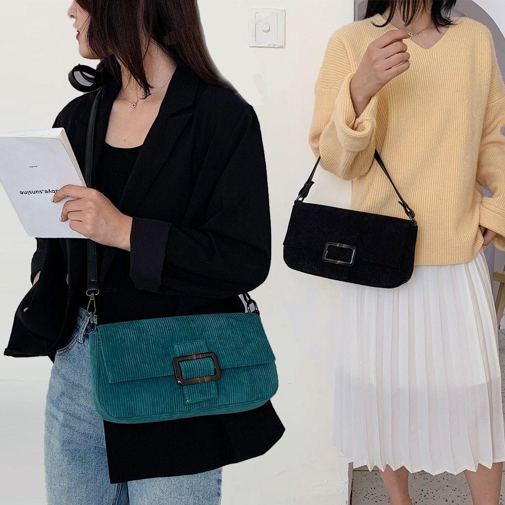 Fashion Women Corduroy Packs Advanced Package Crossbody Bags Handle Winter Bag bags for women