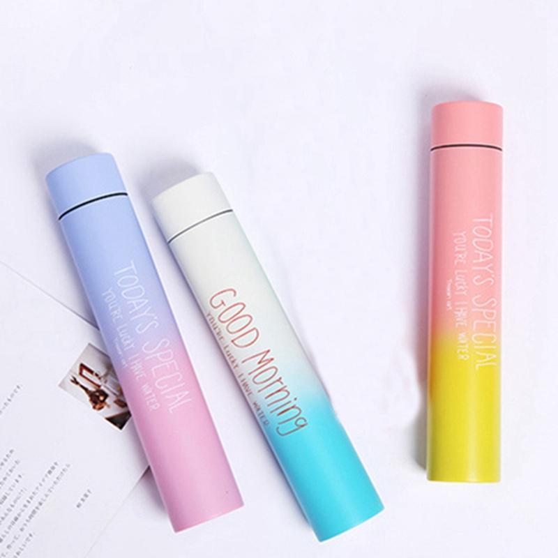 280ml Paslanmaz Çelik Çubuk Gradient Renk Yalıtım Vakum Taşınabilir Hafif Handy İzoleli Cup Coffee Mugs şişeler