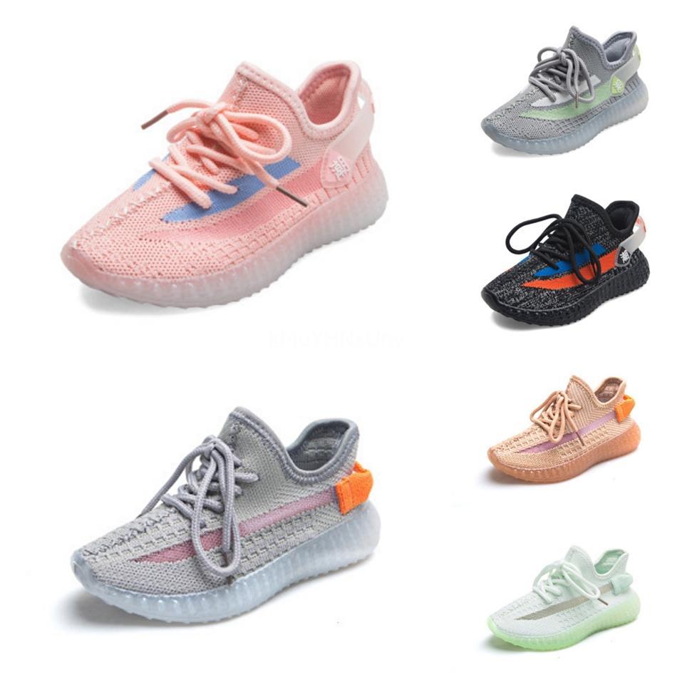 Kanye West V2 estática bebê Crianças Running Shoes verdadeira forma Hiper corredor da onda de argila Beluga branca reflexiva Sports Shoes Boy Girl Sneaker # 539