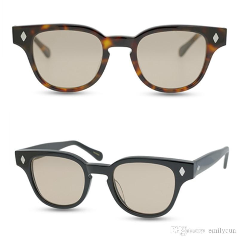 Quadro homens óculos polarizados Praça Mulheres Vintage Sun Glasses Top Quality lentes polarizadas óculos de sol JULIUS TART Shades retro com Box