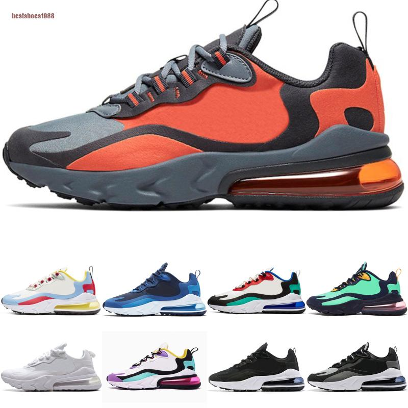NikeAirMax270React 2020 réagir Femmes Hommes Chaussures de course Camo électronique Musique Rouge Bauhaus Triple Blanc Noir Argent Or Sport Formateurs sneakers