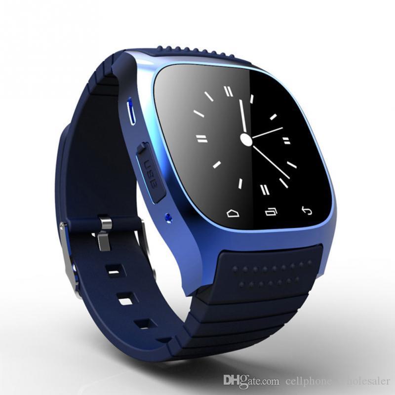 Wasserdicht M26 Smart Watch Bluetooth LED Alitmeter Music Player Pedometer Smartwatch für Android Iphone Smart-Armband besser als DZ09 U8