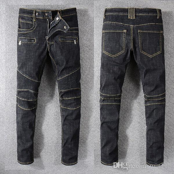 Summer New Mens en détresse déchiré Jeans Slim Fit Biker Denim Pants Hommes Designer de Mode Hip Hop Mens Jeans # 1019