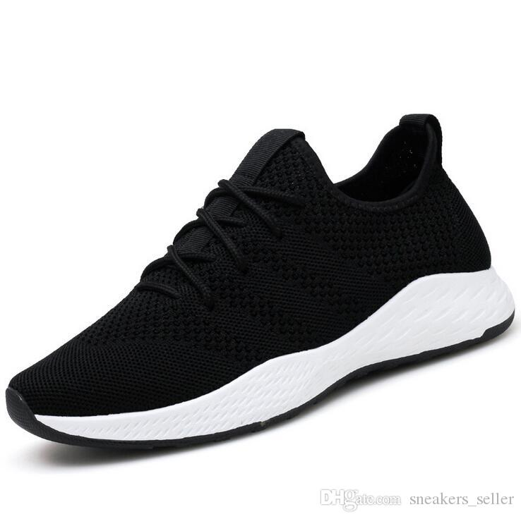 Kutusu ile Sıcak Satış Yaz Yeni Trend Erkek Hafif Uçan Dokuma Nefes Günlük Ayakkabılar Öğrenci Spor Büyük Beden Koşu Ayakkabı