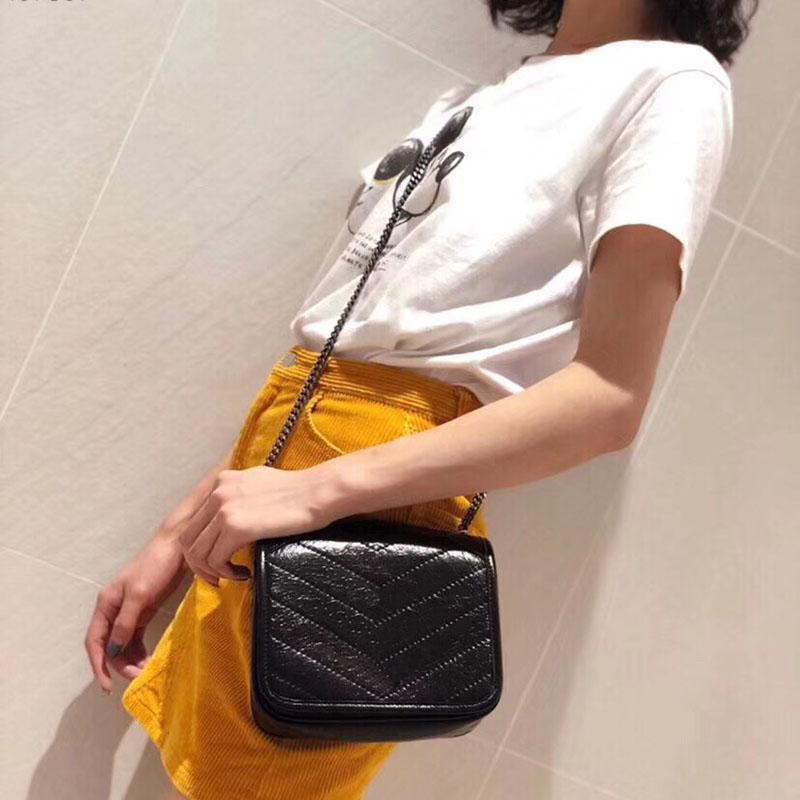 Newset clássico Messenger Bag real de couro bolsa de Impressão Flores Totes Lady Bolsa de Ombro sacola Bolsa Crossbody Bag