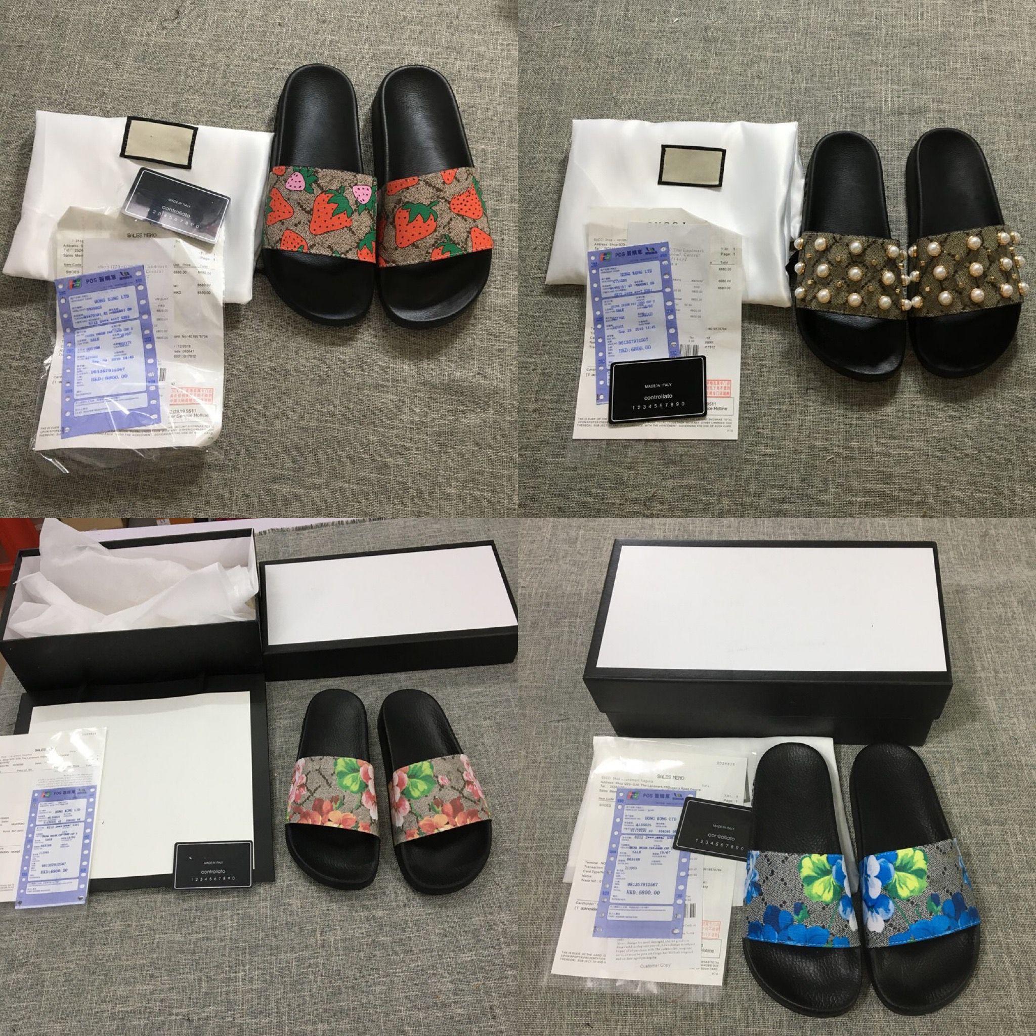 Designer Shoes diapositive Summer Beach Designer Indoor Sandali Casa Designer Infradito Coppie pantofole