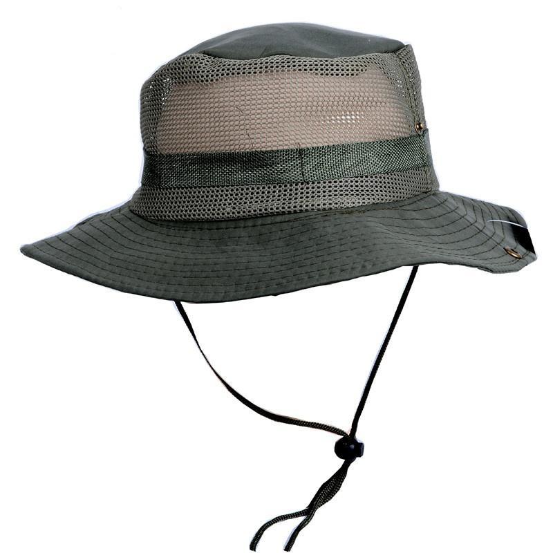 Pesca sombrero caliente de Sun Panamá cubo de la aleta del sombrero respirable Boonie Multicamara Nepal Boonie del camuflaje de sombreros al aire libre los sombreros de ala ancha