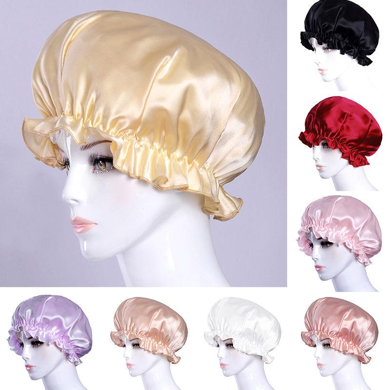 Neue Frauen-Schlaf-Cap Netter Elastic Bonnet Mütze Kopfbedeckung weicher Fleck Chemo Cap Haarausfall Headwrap Bandanas Muslim Cap Mode