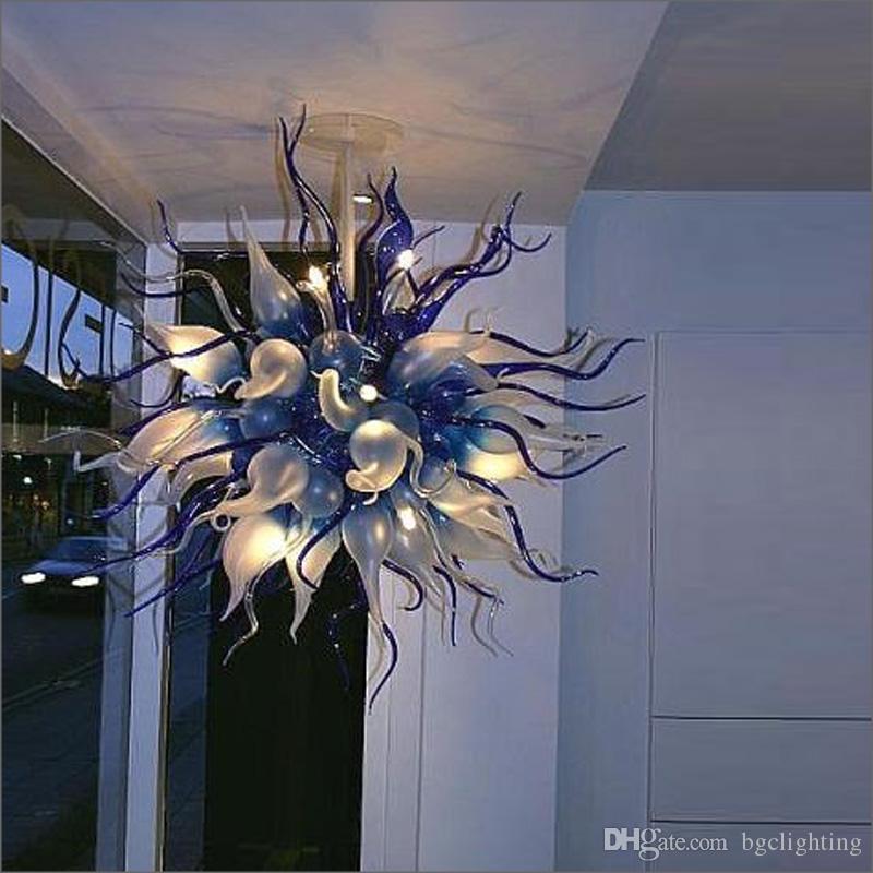 Chegada Nova vidro fundido Chandelier Modern cristal LED AC Tiffany Estilo 100% vidro soprado Com 110V-240V Lâmpadas LED