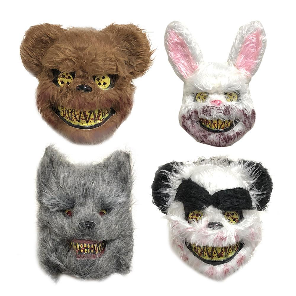 2019 Masque d'horreur Halloween mascarade Horreur masque terrifiant sanglant Ours brun Wild Wolf Effrayant