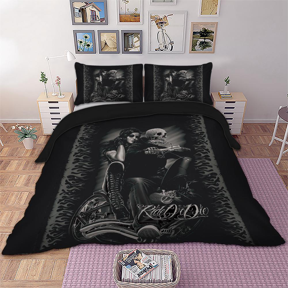 Best Wensd Drop Ship King Size Bed Sets 3d Beddings Skull Queen