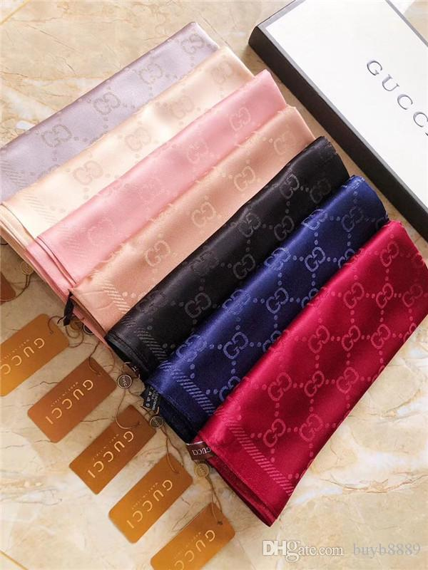 Echarpe en coton de soie belle marque élégante lady simple lettre designer foulard châle taille 180 * 70cm écharpe sans boîte peut être en gros