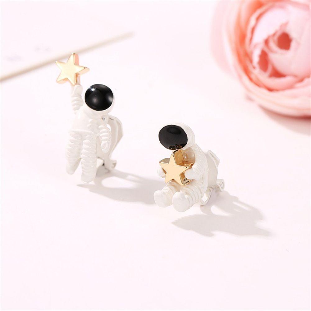 UK Cute Astronauts with Star Earrings