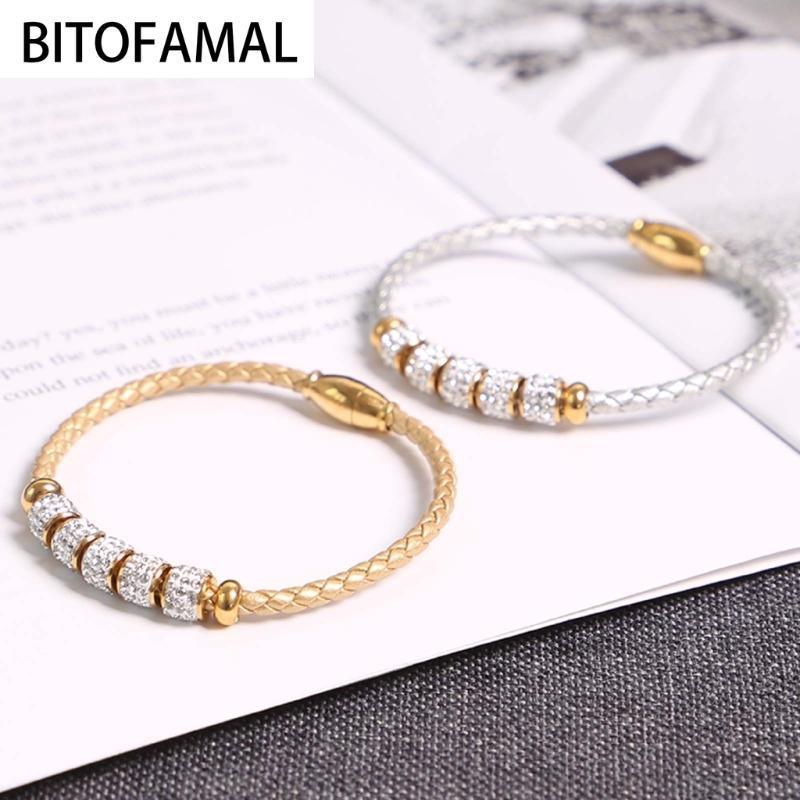 1 Pcs Titanium Acessórios de Moda Coréia Estilo Unisex pulseira ímã apropriado para algumas ocasiões 2 cores para escolher Casual