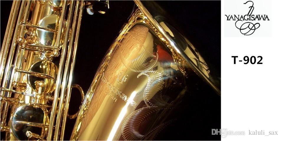 Kılıf ile Yüksek Kalite YANAGISAWA T-902 Bb Tenor Saksafon Pirinç Gövde Altın Kaplama Müzik Enstrüman, Ağızlık Ücretsiz Kargo