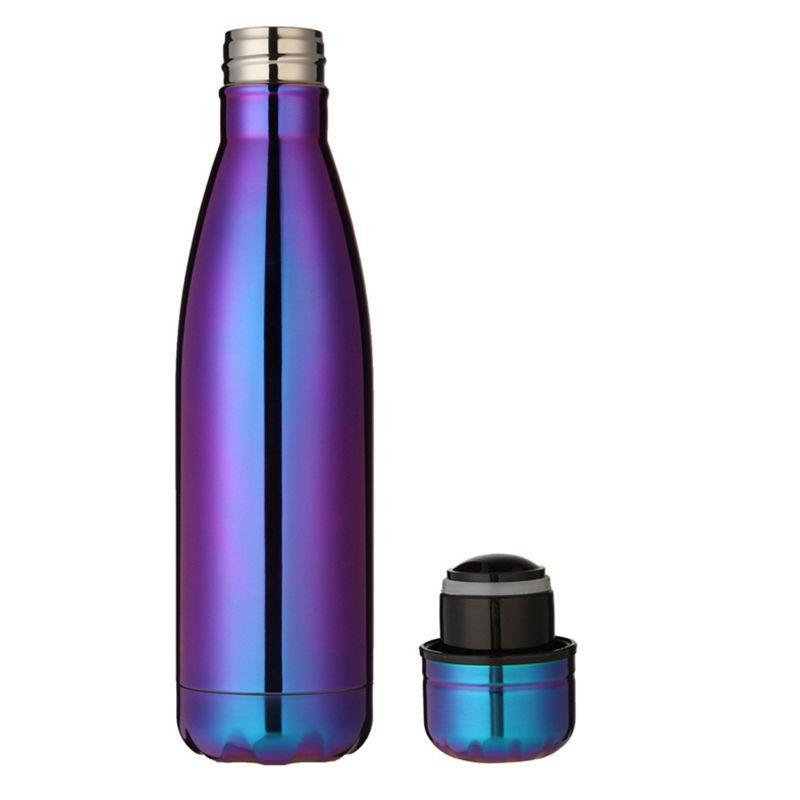 500 ml thermos thermos di espansione di acqua bottiglia di caffè Sports Cup bollitore boccetta di vuoto galvanica bottiglia, viola