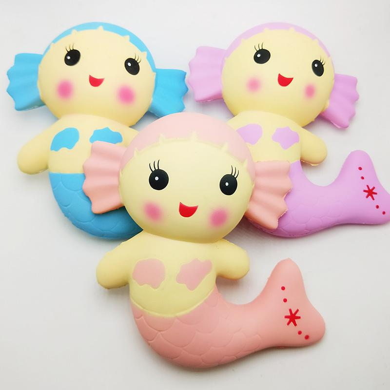 Cute Slow Восходящая Squishy Моделирование PU красоты Русалка Jumbo Kawaii Сожмите Декомпрессия игрушки Подарки для детей