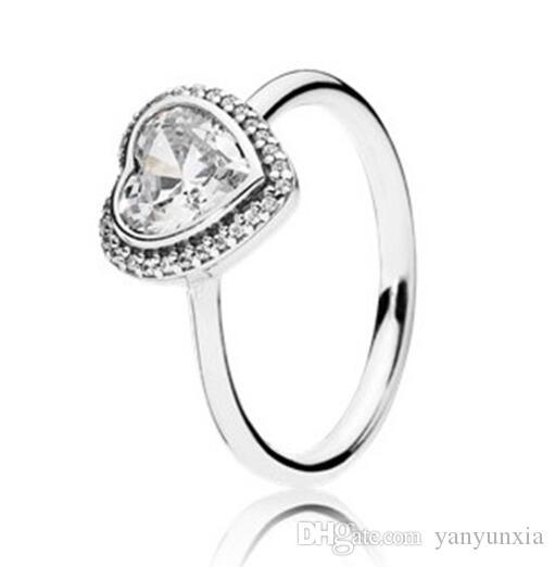 الأصلي 925 خاتم فضة لغز القلب عصابة لباندورا المرأة الزفاف حفلة خطوبة الذكرى هدية الأزياء والمجوهرات