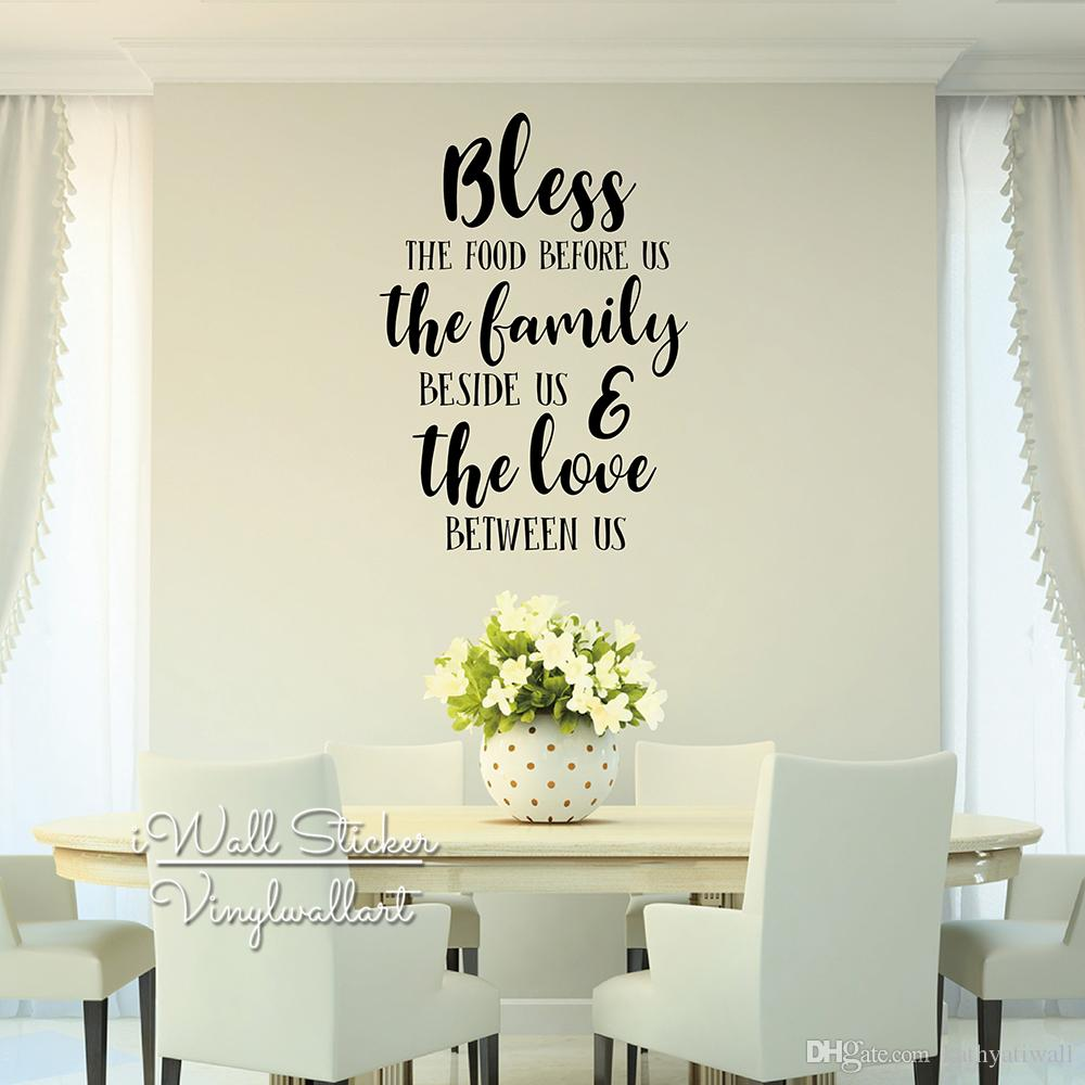 May This Home Be Blessed wall quotes stickers butterfly flower wall sticker