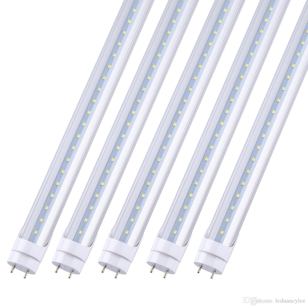 4ft LED Light Fixtures 4Feet LED Tube T8 LED Bulbs Tubes Frosted Type 18W 22W 28W Super Bright SMD2835 AC85-277V