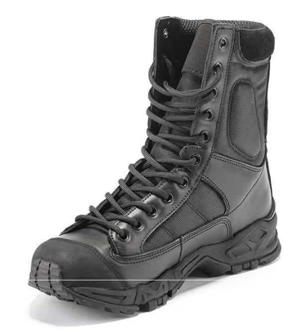 أحذية التكتيكية العسكرية القتالية أحذية الجيش الأسود رجل حذاء تنفس لبس مع جودة عالية حجم AirBorne التمهيد 38--44