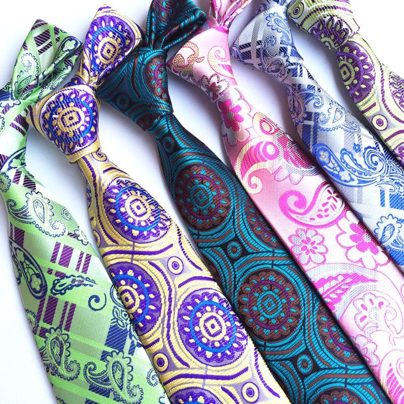 men's silk tie 8cm pink purple floral tie for Man Business Wed Formal Neck Tie Silk Dress Gift Gravata