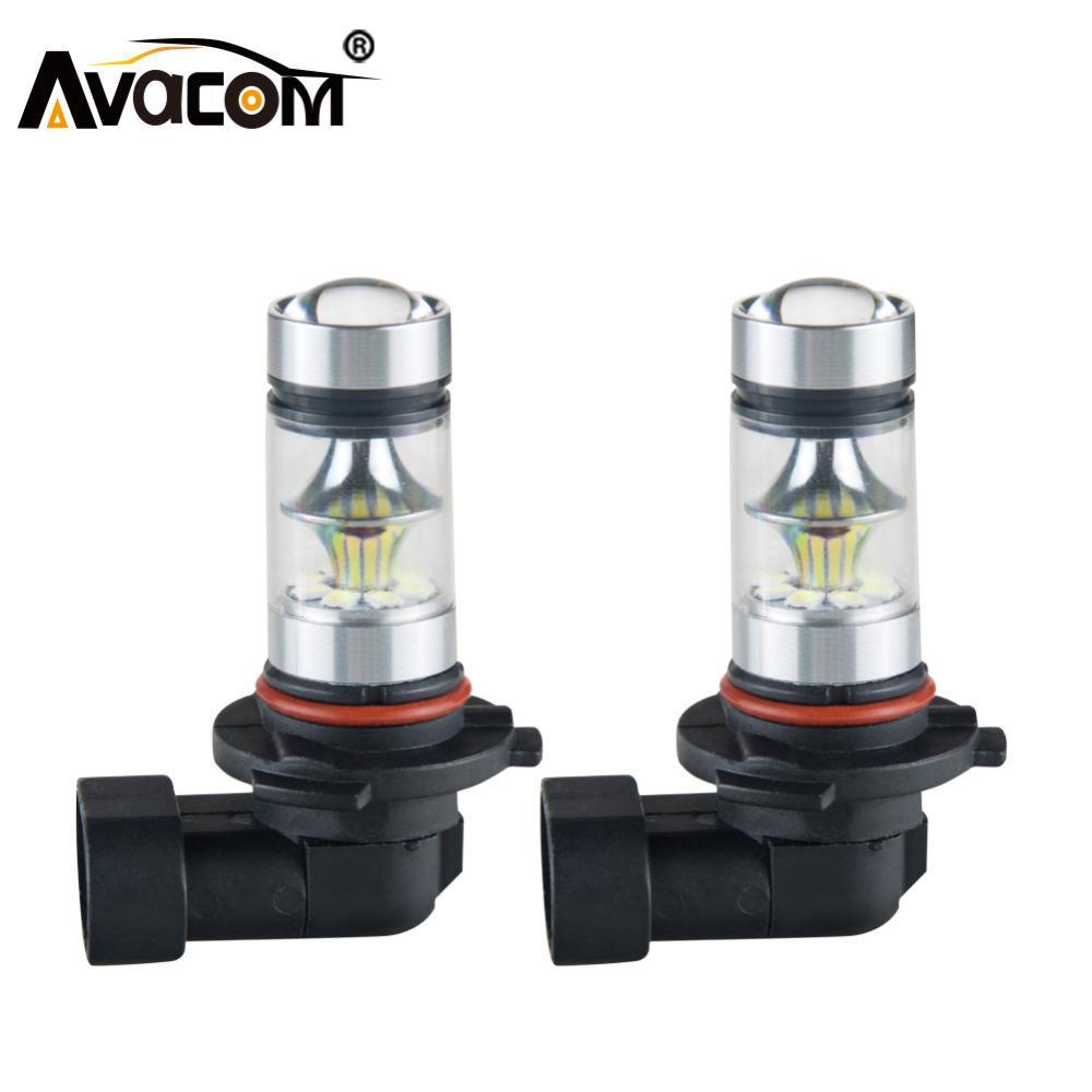 Avacom 2 Adet LED H7 H11 H3 Araba Sis Lambaları 12V 1200Lm 9005 / HB3 9006 / HB4 H8 H1 PSX24W 24V Oto Sis Lambası Gündüz Işıklar