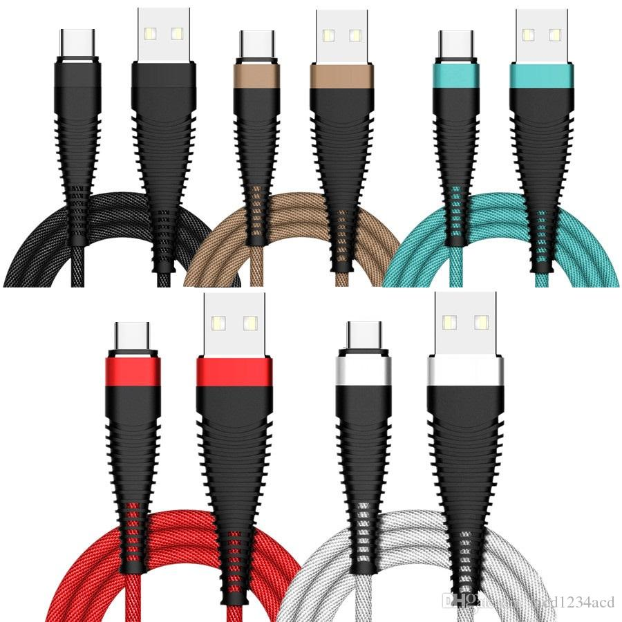 2A Typ C Micro V8 5Pin USB-Kabel 1m 2m 3m 10ft USB-Ladegerät Kabel für Samsung S7 S8 S9 S10 Anmerkung 8 9 LG Sony Android-Telefon