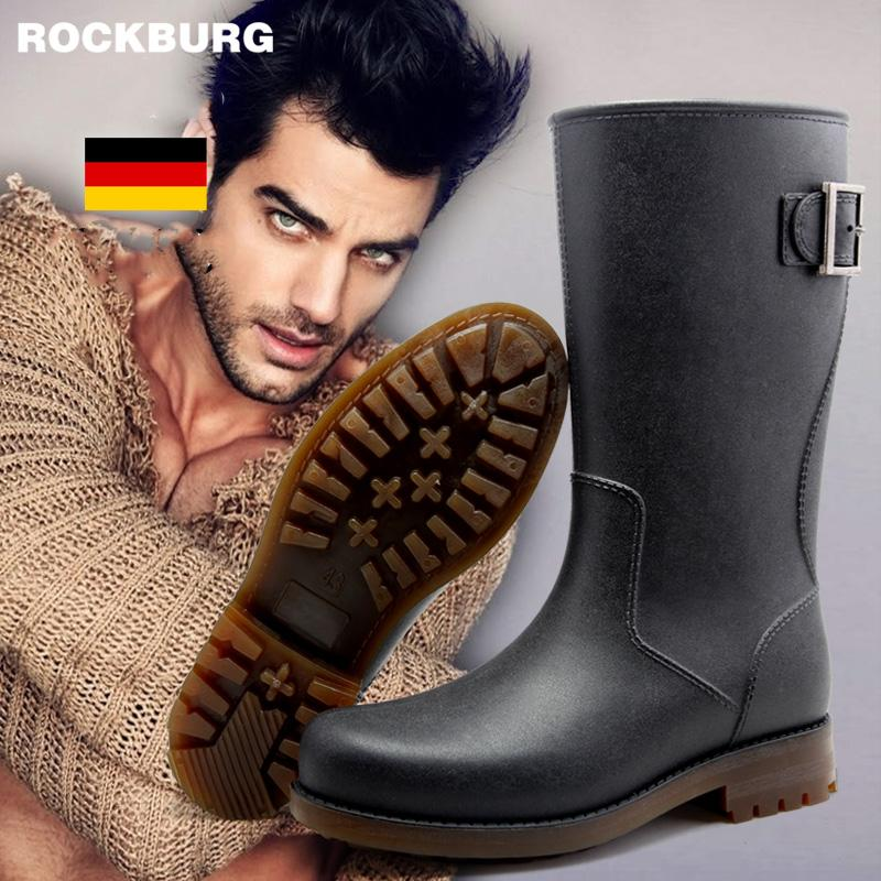 Hot Sale-Free shipping 2016 new fashion Mens Rain Boots Waterproof Rainboots Matt Shoes Rainday Water Shoes Adult Shoes Skid size 39-45