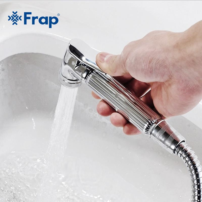 venta al por mayor cromo estilo moderno mano bidet spray abs ducha cabezal rociador boquilla botón de presión f24
