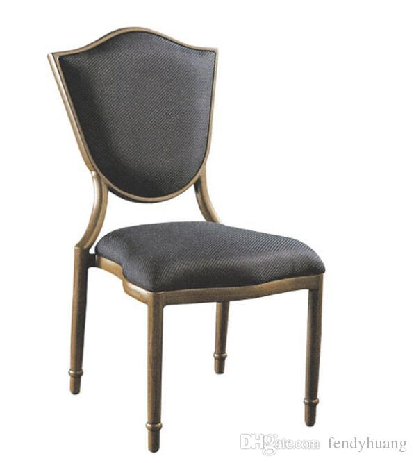promo code 7824e df2fd 2019 Wholesale Promotion Good Price High Class Quality Wood Paper Imitation  Aluminium Hotel Restaurant Chairs With Black Fabric Cover From Fendyhuang,  ...