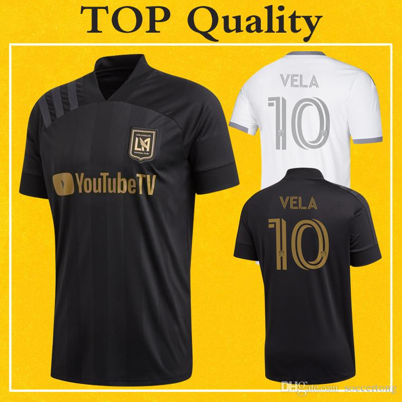 2020 LAFC Soccer Jersey MLS Football Shirt Home Away Los Angeles FC VELA TOP Quality More 10pcs Free DHL Shipping