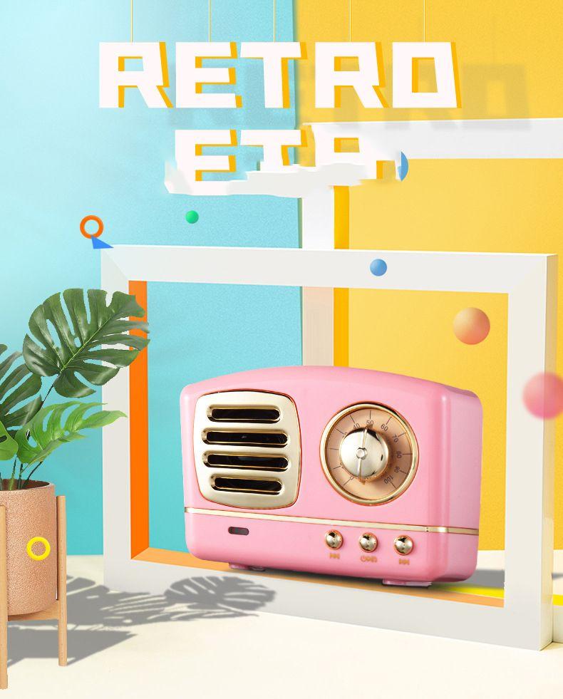 Creative американский ретро радио портативный подарок мобильный телефон сабвуфер ностальгический USB мини Bluetooth аудио имеет множество вариантов