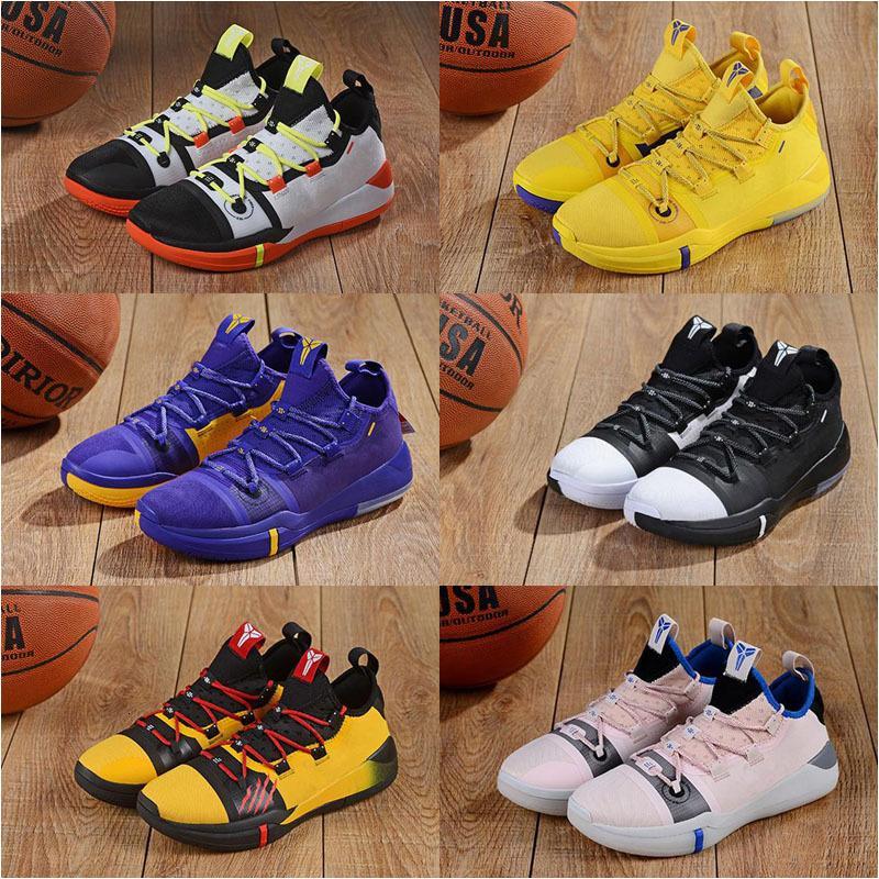 Zapatos nueva Mamba Día AD Éxodo Derozan Negro púrpura del rosa de plata del baloncesto de los niños de alta calidad para hombre dC entrenadores deportivos zapatillas de deporte