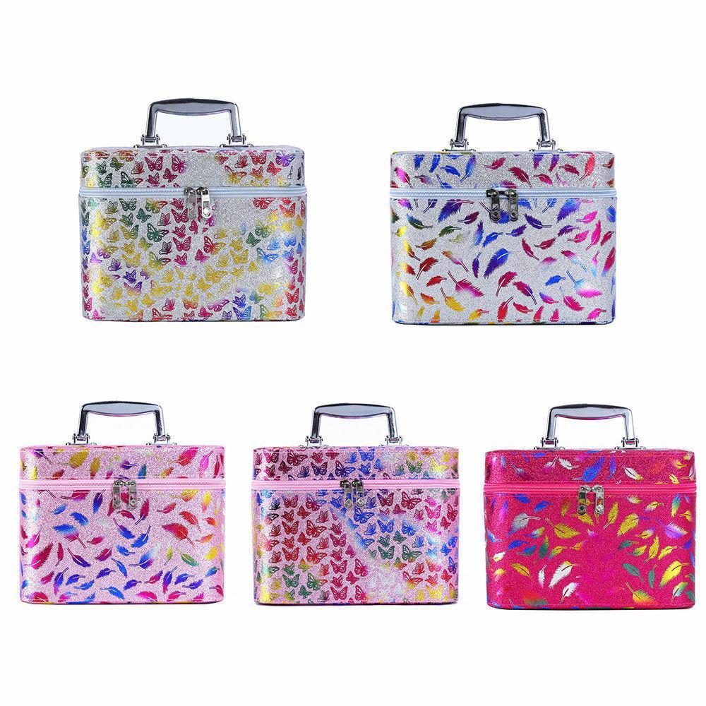 Caso cosmético cosméticos de almacenamiento de capacidad maleta portátil de la mujer profesional compone el bolso