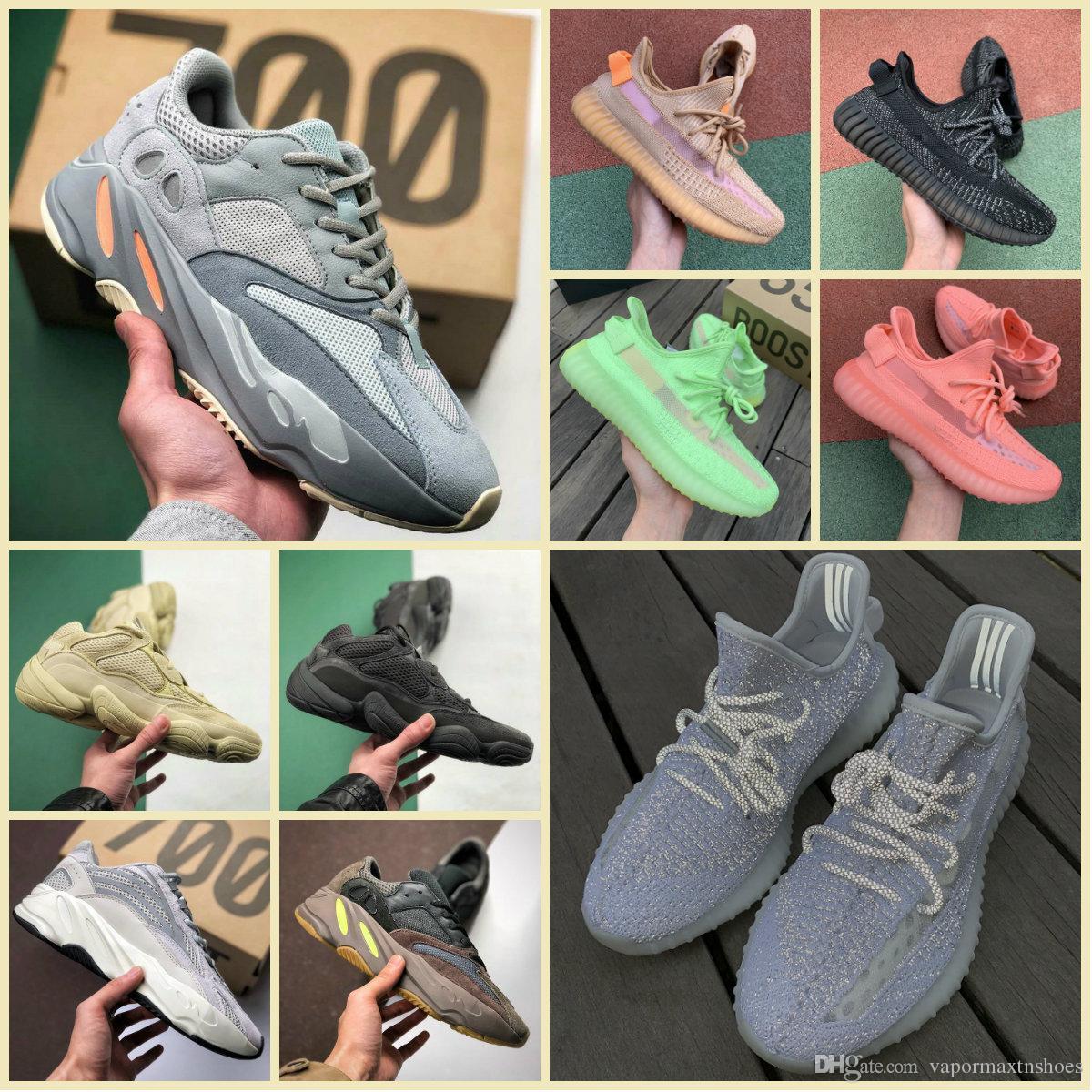 2019 Original 700 V2 Static Clay Scarpe sportive Scarpe da ginnastica economiche Kanye West 700s Wave Runner Malva Uomo Donna 3M riflettenti Inertia True Form Sneakers
