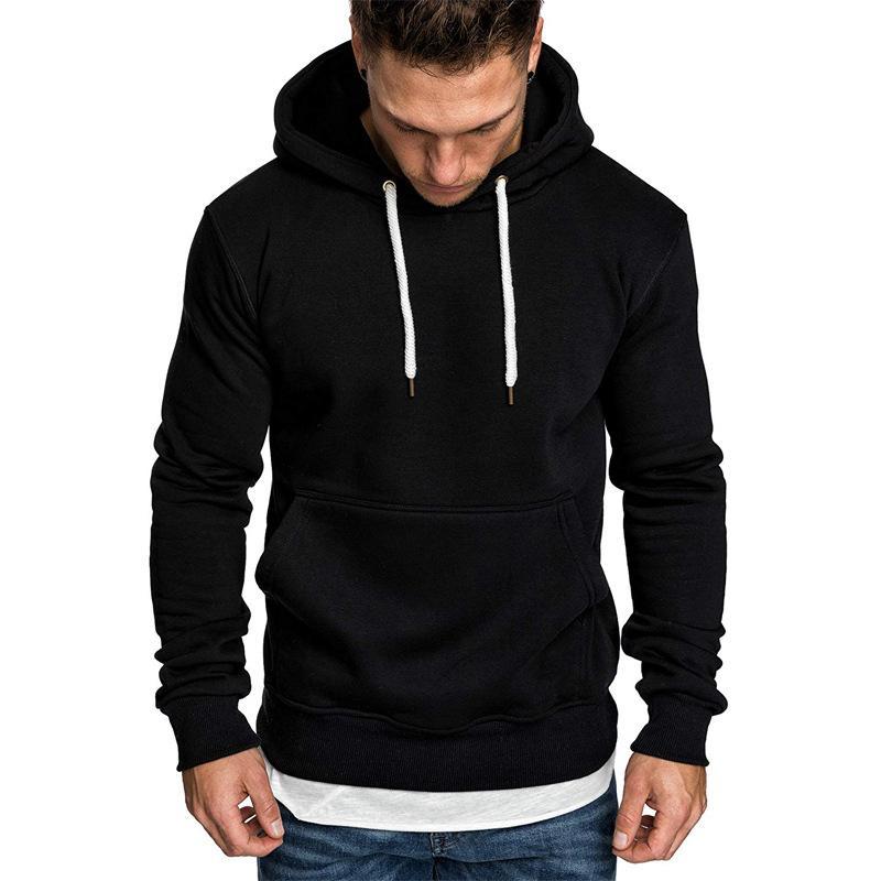Мужские толстовки толстовки MRMT 2021 Стиль бренда Мужчины Сплошной цвет Хаудяка Повседневная бархатное пальто Пуловер для мужчин