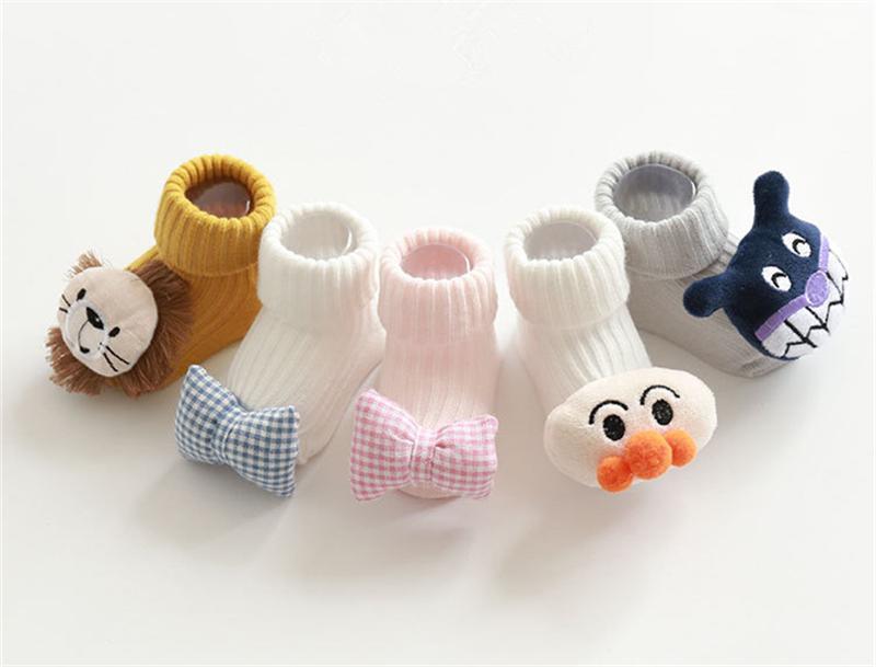소년 소녀 아기 양말 미끄럼 방지 양말 DHL를 들어 아기 코튼 만화 귀여운 동물 신생아 유일한 부팅 슬리퍼 아동