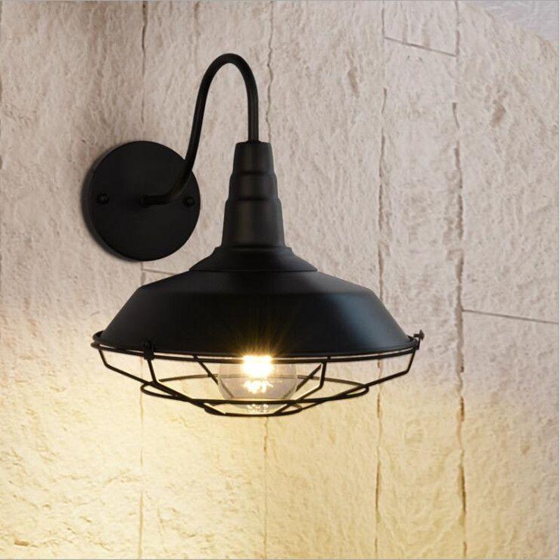 Modern Retro Vintage Industrial Loft Style Metal Glass Rustic Sconce Wall Light