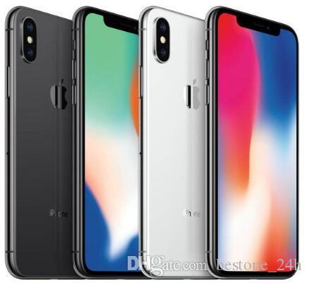 Entsperrtes Apple iPhone X ohne Gesicht ID 4G LTE 64 GB / 256 GB ROM 3 GB RAM Hexa Core 5,8 Zoll iOS A11 12MP Dual-Back-Kamera mit überarbeitetem Mobiltelefon
