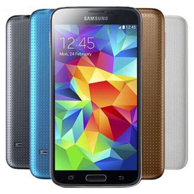 الأصلي تجديد سامسونج غالاكسي S5 G900F G900A G900V G900T G900P 5.1 بوصة رباعية النواة 2GB RAM 16GB ROM 4G LTE مقفلة الهاتف DHL 1PCS