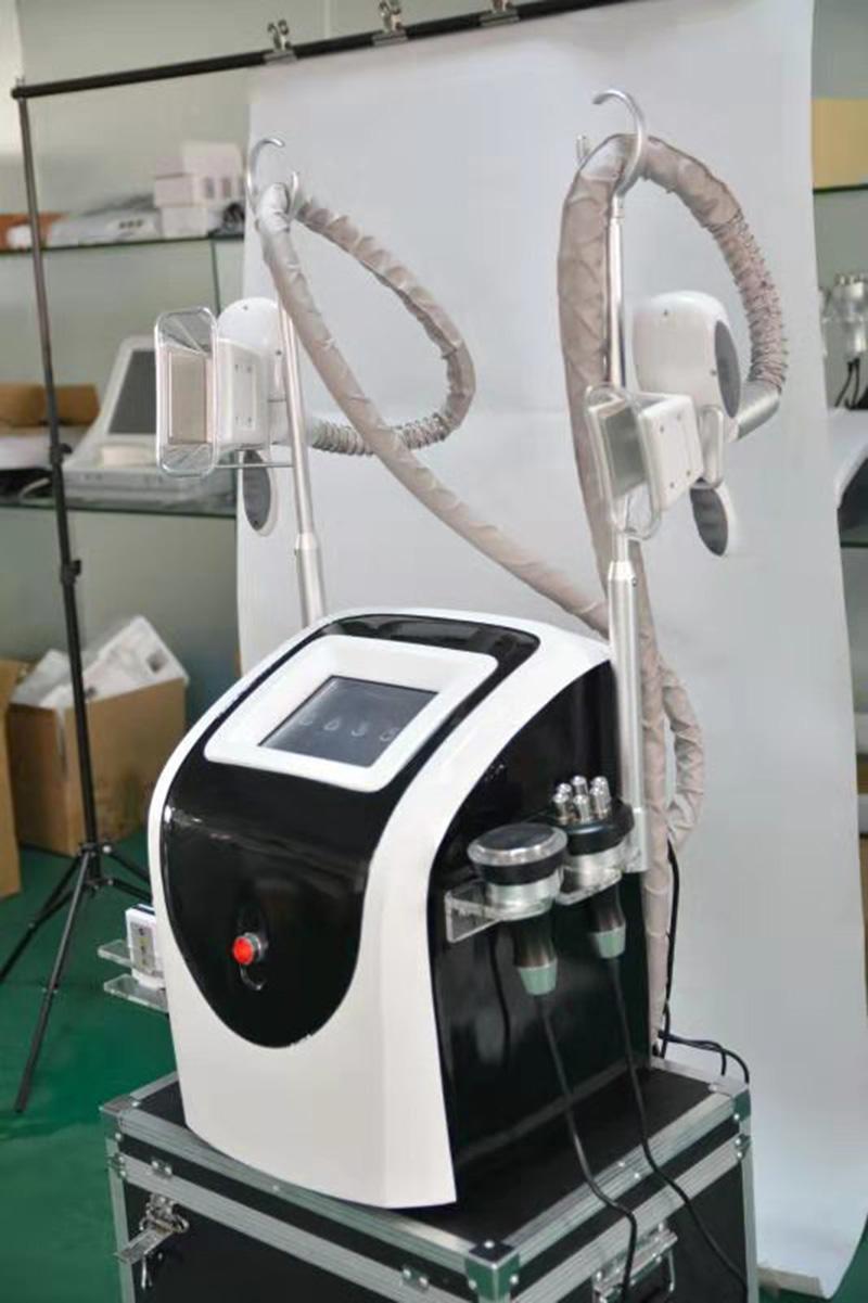 2019 전문 한 Cryolipolysis 지방 동결 캐비테이션 레이저 사러 바디 슬리밍 기계 2 냉동 핸들 (8 개) 레이저 패드