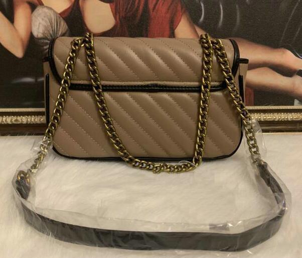 5A Hot Venda Moda Mulheres Stripe Bolsas de Ombro Classic Gold Cadeia 26cm Bag Estilo Coração Mulheres Bag Handbag bolsa de lona Mensageiro bolsas