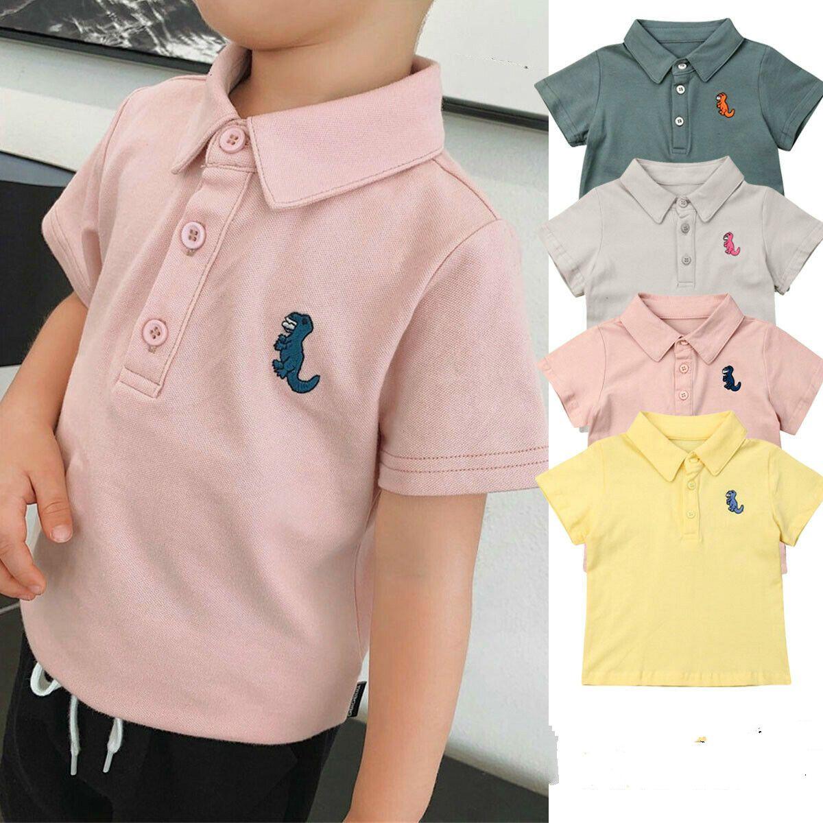 T-shirt bambino ragazzo Estate Ragazzi bambino stampa camice in cotone al 100%