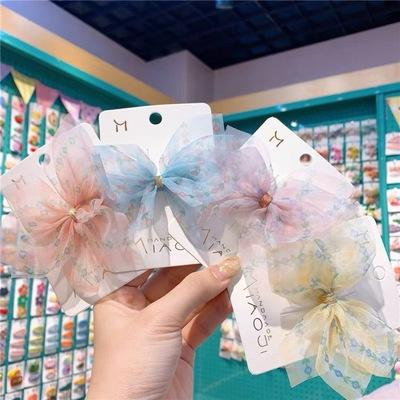 New arrival 2020 baby bow hairpin children cute flower bow hairpin side clip accessories girls hair accessories