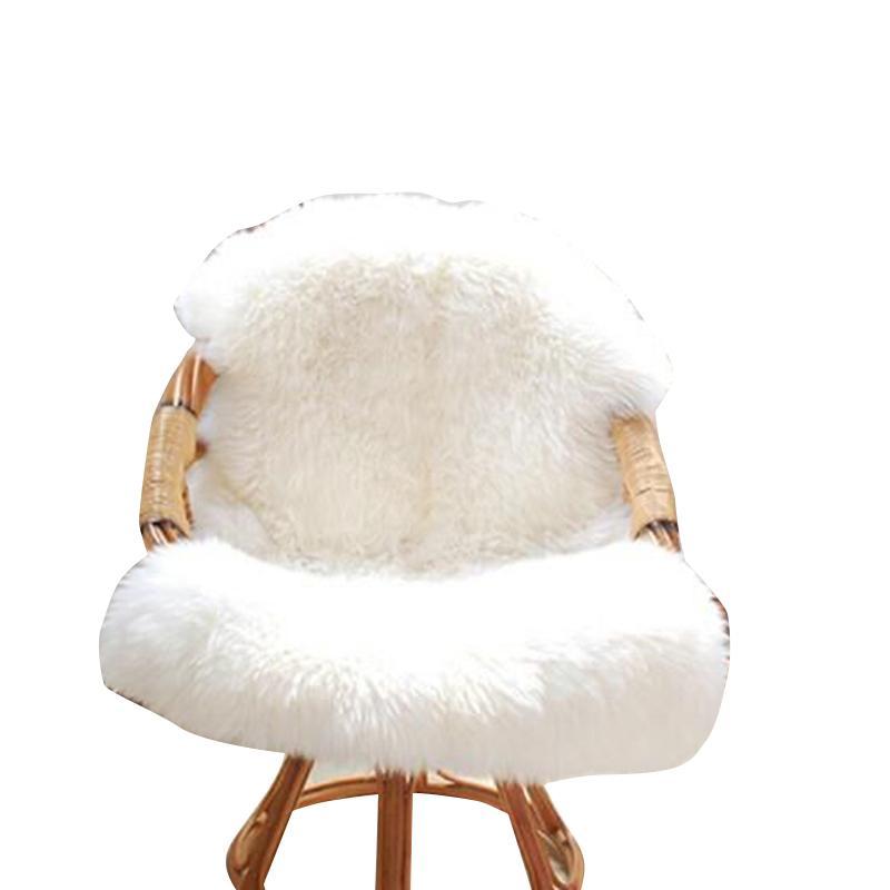Branco suave Sem Imitação machucar a pele de lã Couro Carpet Mat Sala Quarto Blanket lavável alta qualidade Início Decora
