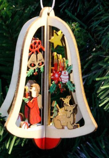 Горячей Главной Сад Деревянного Рождества Форма приукрашивание Xmas Tree украшение