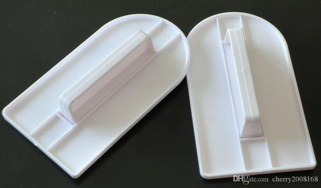 2ピース耐熱器ケーキスムーズな飾るポリッシャーシュガークラフトシャープエッジキッチンフォンダンツール